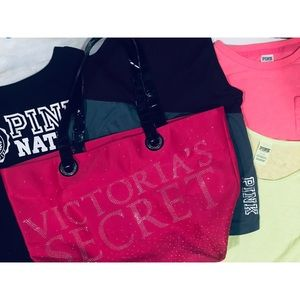 Bundle Lot of small Victoria's Secret (Pink) items